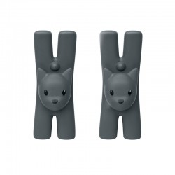 Set of 2 Magnetic Clips Black - Lampo - A Di Alessi A DI ALESSI AALEMMI32CSB