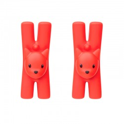 Set of 2 Magnetic Clips Red - Lampo - A Di Alessi A DI ALESSI AALEMMI32CSRO