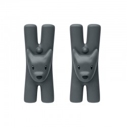 Set of 2 Magnetic Clips Black - Giampo - A Di Alessi A DI ALESSI AALEMMI32DSB