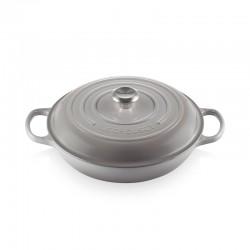 Shallow Casserole 30cm Mist Grey - Evolution - Le Creuset