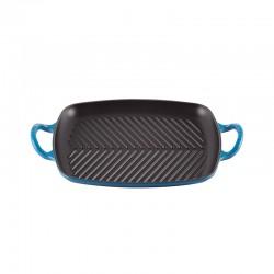 Shallow Rectangular Grill 30cm Blue Marseille - Signature Marseille Blue - Le Creuset