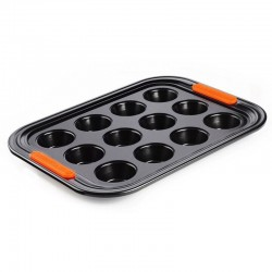 12 Mini Muffins Tray Black - Le Creuset