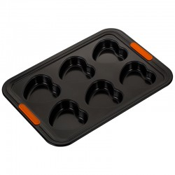 6 Heart Tray Muffins Black - Le Creuset