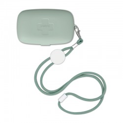 Pocket Case for Face Mask Green - On The Go - Guzzini Protection