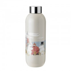 Drinking Bottle 750ml Sand - Moomin Keep Cool - Stelton STELTON STT1372-1