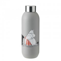 Drinking Bottle 750ml Light Grey - Moomin Keep Cool - Stelton STELTON STT1372-4
