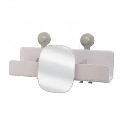 Large Shower Shelf with Adjustable Mirror - Easystore White - Joseph Joseph JOSEPH JOSEPH JJ70548
