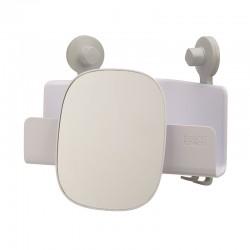 Corner Shower Shelf with Adjustable Mirror - Easystore White - Joseph Joseph JOSEPH JOSEPH JJ70549