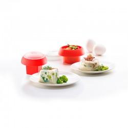 Kit 2 Ovos (Cilindrico e Cúbico) Vermelho - Lekue LEKUE LK3402400S01U008