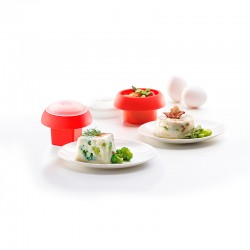 Kit Egg Cooker (x2) Red - Lekue LEKUE LK3402400S01U008
