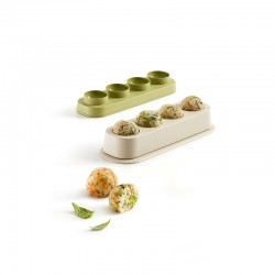 Forma para Almôndegas - Veggie Balls Verde E Bege - Lekue