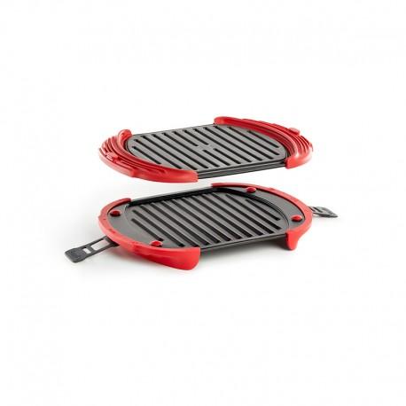 Grelhador para Micro-ondas 3-4 Pessoas XL Vermelho - Lekue LEKUE LK0220600R14M017