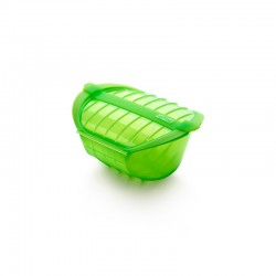 Deep Steam Case With Tray 1-2p. Green - Lekue