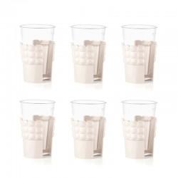 Set 6 Universal Cup Holder Milk White - Tiffany - Guzzini