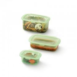Conj. Caixas de Silicone Reutilizáveis Verde - Lekue LEKUE LK3420000SURM017