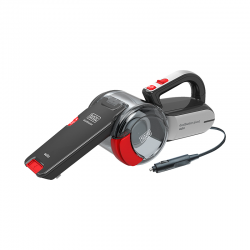 12V DC Dustbuster Pivot Car Vacuum Grey And Red - Black Decker BLACK DECKER PV1200AV