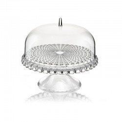 Cake Stand With Dome Clear Ø30cm - Tiffany - Guzzini