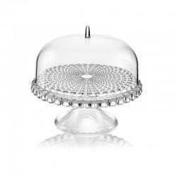 Prato para Bolo com Pé e Campânula Transparente Ø30cm - Tiffany - Guzzini