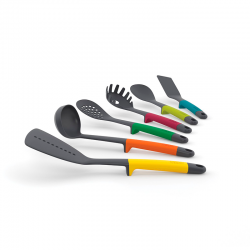 Conjunto de 6 Utensílios de Cozinha - Elevate Multicolorido - Joseph Joseph JOSEPH JOSEPH JJ10119