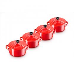 Set 4 Mini Cocottes Vermelho Metálico - Le Creuset LE CREUSET LC69212107370131
