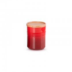 Stoneware Medium Storage Jar 540ml Cerise - Le Creuset