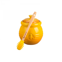 Stoneware Honey Pot with Dipper Dijon - Le Creuset