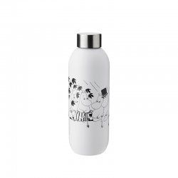 Garrafa de Água 750ml Keep Cool - Moomin Branco E Preto - Stelton