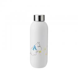 Garrafa de Água 750ml Keep Cool Frost - Moomin Branco - Stelton