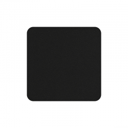 Set of 4 Coasters 10x10cm Charcoal - Soft Leather - Asa Selection