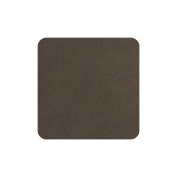 Set of 4 Coasters 10x10cm Earth - Soft Leather - Asa Selection