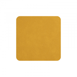 Set of 4 Coasters 10x10cm Amber - Soft Leather - Asa Selection