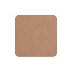 Set of 4 Coasters 10x10cm Powder - Soft Leather - Asa Selection
