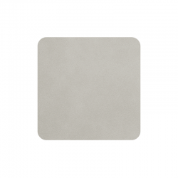 Set of 4 Coasters 10x10cm Limestone - Soft Leather - Asa Selection
