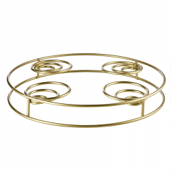 Round Candle Holder Ø24,5cm - À Table D'Or Gold - Asa Selection ASA SELECTION ASA99500425