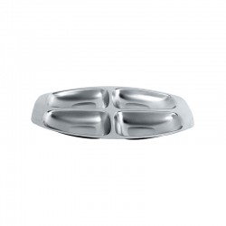 Four Section Dish - 2300 Steel - Alessi