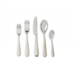 Cutlery Set 5 Pieces - Nuovo Milano Silver - Alessi ALESSI ALES5180S5