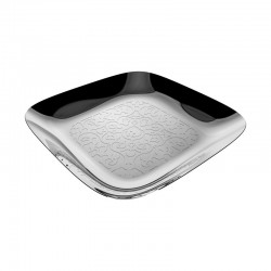 Square Tray With Relief Decoration - Dressed Inox - Alessi