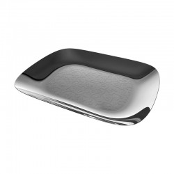 Rectangular Tray With Relief Decoration - Dressed Inox - Alessi