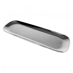 Tray With Relief Decoration - Dressed Inox - Alessi