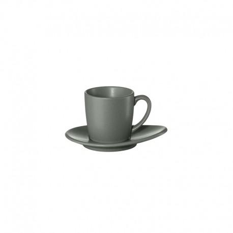 Espresso Cup With Saucer - Cuba Grigio Grey - Asa Selection ASA SELECTION ASA1231400