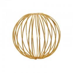 Set of 3 Golden Metal Balls - Deko - Asa Selection | Set of 3 Golden Metal Balls - Deko - Asa Selection
