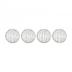 Set of 4 Silver Metal Balls ø6cm - Deko - Asa Selection
