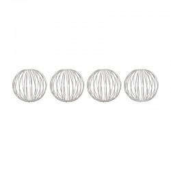 Set of 4 Silver Metal Balls ø6cm - Deko - Asa Selection | Set of 4 Silver Metal Balls ø6cm - Deko - Asa Selection