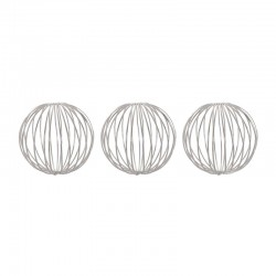 Set of 3 Silver MetalBalls ø9cm - Deko - Asa Selection