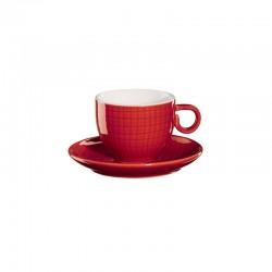 Espresso Taza Con Platillo - Voyage Rojo - Asa Selection