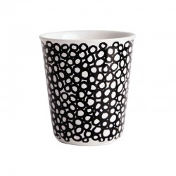Espresso Cup Curls Ø6,5Cm - Coppetta Black And White - Asa Selection