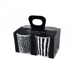 Set De 4 Tazas Espresso - Coppetta Set1 Blanco Y Negro - Asa Selection