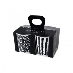 Set De 4 Tazas Expreso - Coppetta Set1 Blanco Y Negro - Asa Selection