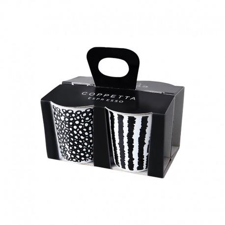 Set De 4 Tazas Expreso - Coppetta Set1 Blanco Y Negro - Asa Selection ASA SELECTION ASA44200214