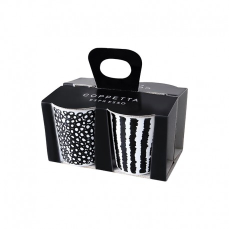 Set Of 4 Espresso Cups - Coppetta Set1 Black And White - Asa Selection ASA SELECTION ASA44200214